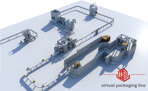 Virtual Packaging Line Vue du ciel